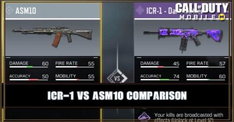 ICR-1 VS ASM10 Comparison