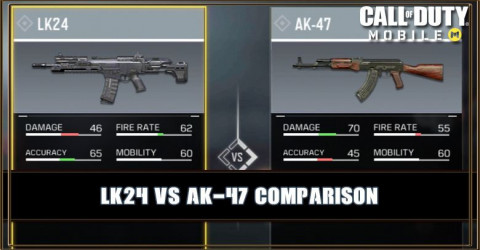 LK24 VS AK-47 Comparison
