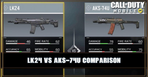 LK24 VS AKS-74U Comparison
