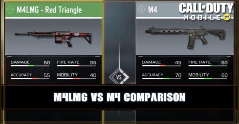 M4LMG VS M4 Comparison