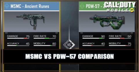 MSMC VS PDW-57 Comparison
