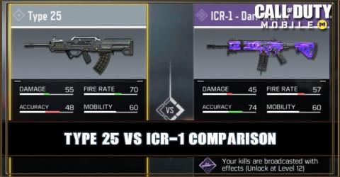 Type 25 VS ICR-1 Comparison