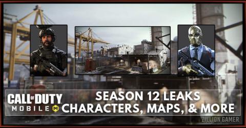 COD Mobile Season 12 Leaks: Characters, Maps, & More