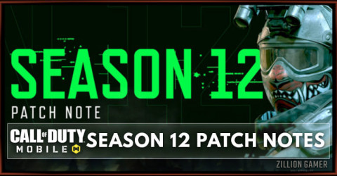 Call of Duty Mobile Season 12 Patch Notes