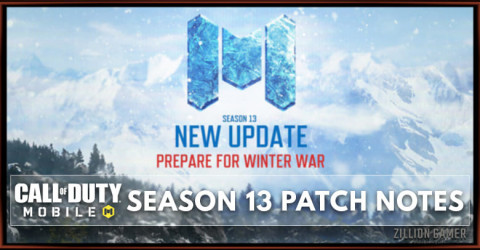 Call of Duty Mobile Season 13 Patch Notes