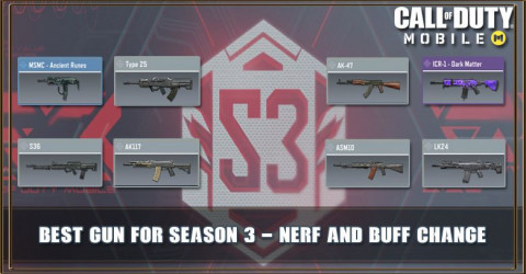 COD Mobile Best Gun For Season 3 - Nerf and Buff Change