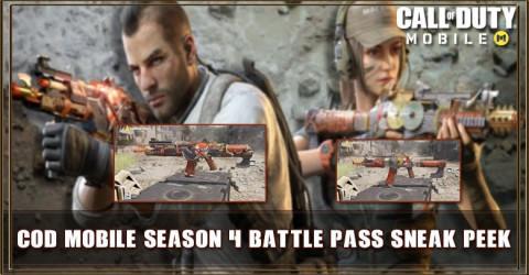 COD Mobile Season 4 Battle Pass Leaks Sneak peek