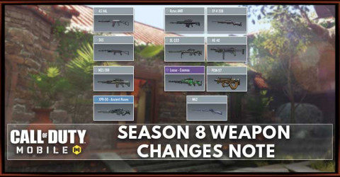 Call of Duty: Mobile Season 8 Weapon Balance Changes
