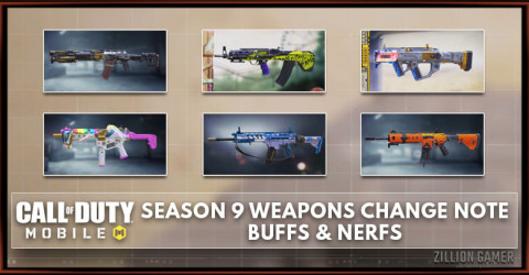 Cod Mobile Season 9 Weapons Change Note Buffs Nerfs Zilliongamer