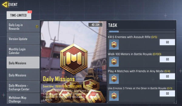 COD Mobile Season 5 Event: Daily Mission - zilliongamer