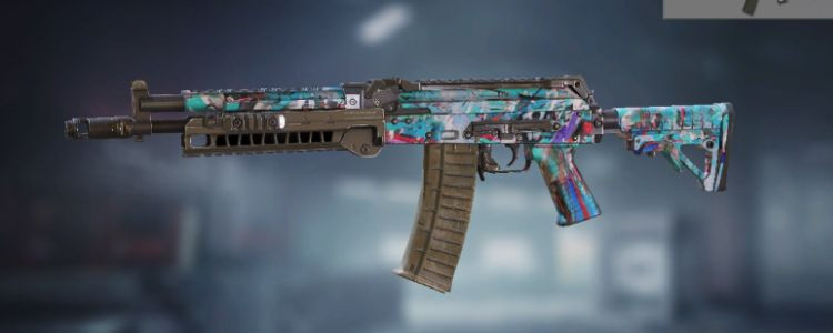 AK117 skins Blue Graffiti in Call of Duty Mobile. - zilliongamer