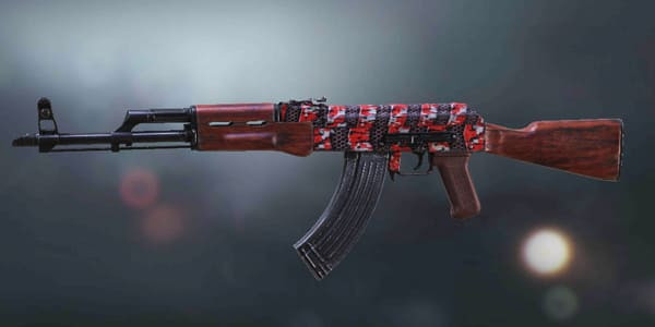 COD Mobile AK47 Skin: Plated Red - zilliongamer