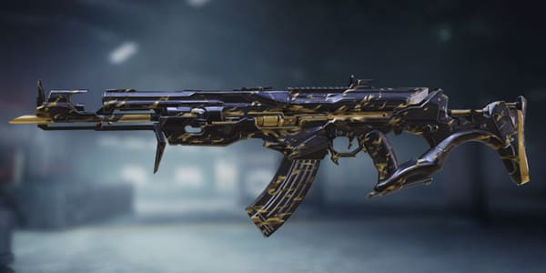 COD Mobile AK47 Skin: Wrath Black & Gold - zilliongamer