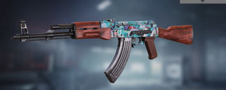 AK47 skins Blue Graffiti in Call of Duty Mobile. - zilliongamer