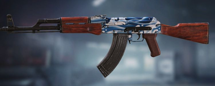 AK47 skins Blue Wave in Call of Duty Mobile. - zilliongamer