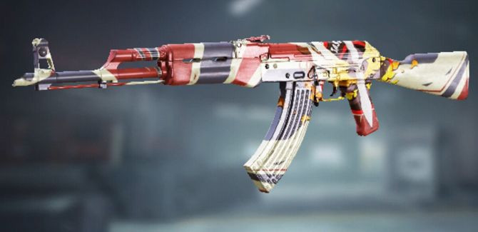 AK47 Task Force 141 Skin in Call of Duty Mobile - zilliongamer