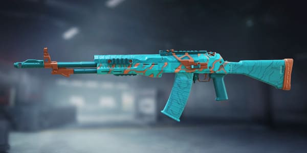 ASM10 Turquoise skin in Call of Duty Mobile.