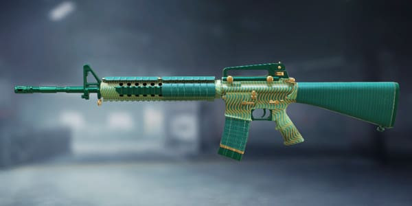 Call of Duty Mobile M16: Reveted Green - zilliongamer