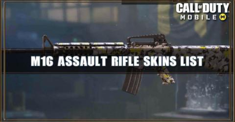 M16 Skins List