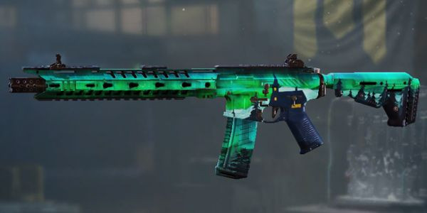 M4 Aurora Borealis Skin in Call of Duty Mobile.
