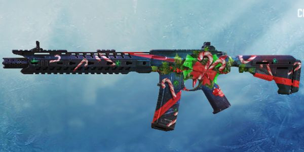 M4 Candy Cane Skin in Call of Duty Mobile.