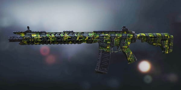 COD Mobile M4 Skin: Plated Green - zilliongamer