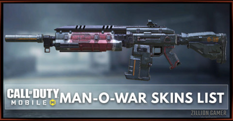 Man-O-War Skins List
