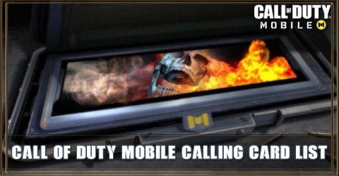 Call of Duty Mobile Calling Card List