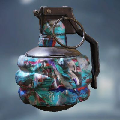 Frag Grenade Skin: Blue Graffiti in Call of Duty Mobile - zilliongamer