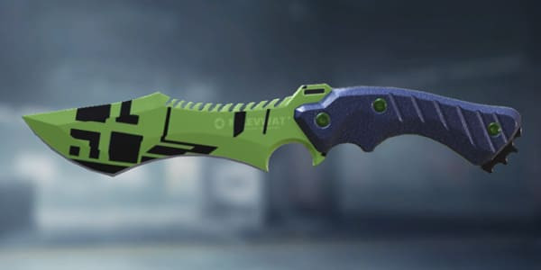 COD Mobile Knife skin: Black Lime - zilliongamer