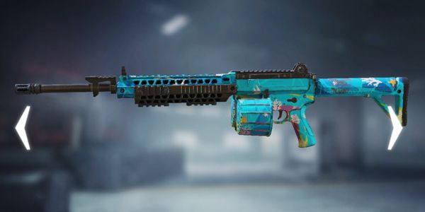 Tropical M4LMG Skin in Call of Duty Mobile.