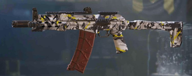 AKS-74U skins Yellow Snow in Call of Duty Mobile. - zilliongamer