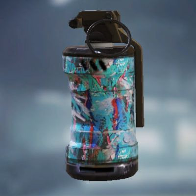 Blue Graffiti Smoke Grenade skin in Call of Duty Mobile
