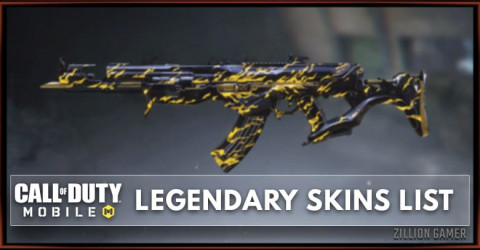 Call of Duty Mobile Legendary Skins List