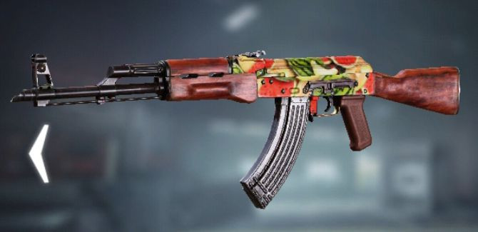 AK47 Skin: Melon in Call of Duty Mobile.