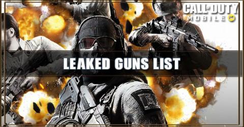 Call of Duty: Mobile Leaked Gun List