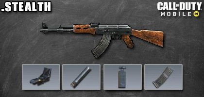 COD Mobile AK-47 Best Attachments - Stealth - zilliongamer