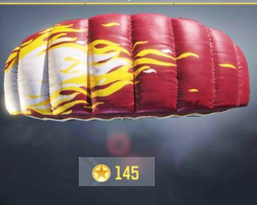 Parachute skins list in Call of Duty Mobile.