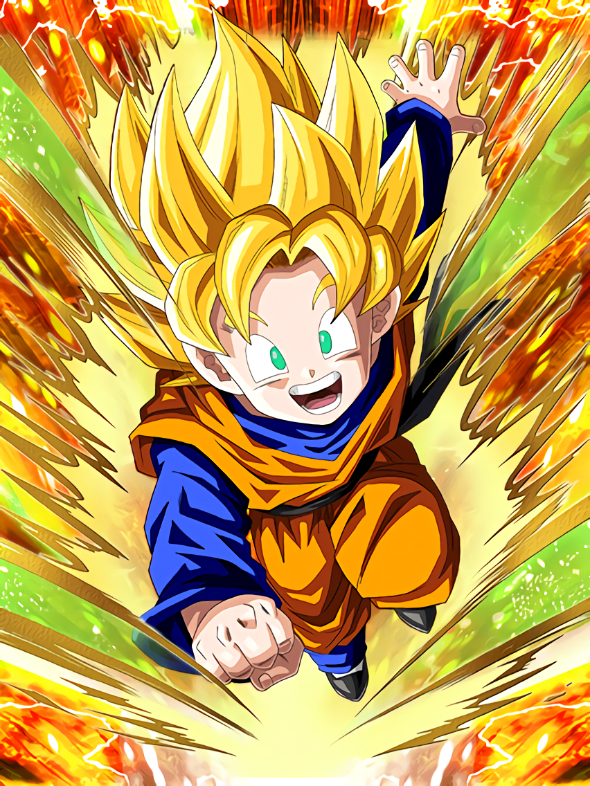 promising son super saiyan goten kid dragon ball z dokkkan battle