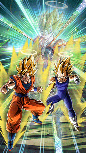 Fused Fighting Force Super Saiyan Goku & Vegeta (Angel
