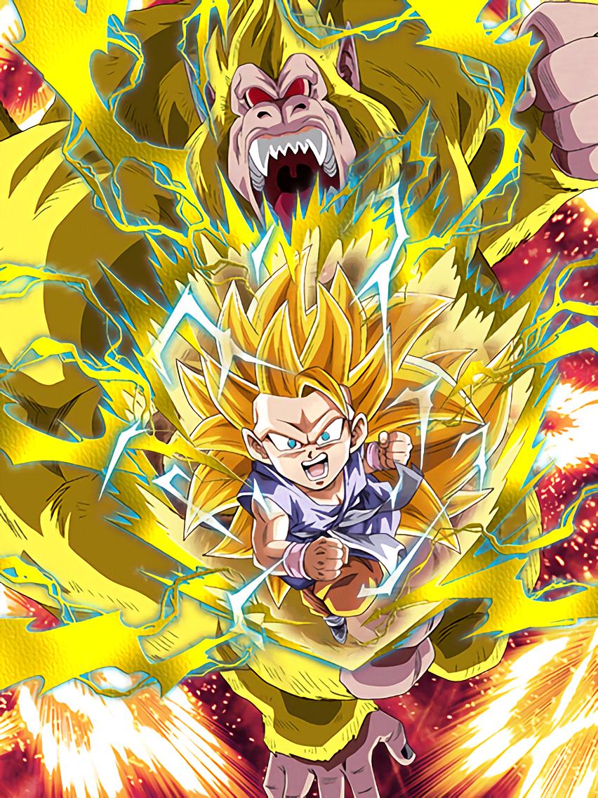 Super Saiyan 3 Goku Dokkan Str Clutching Victory Super Saiyan 3 Goku