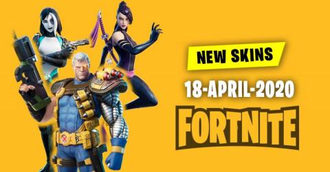 Fortnite Skins Today's Item Shop 18 April 2020