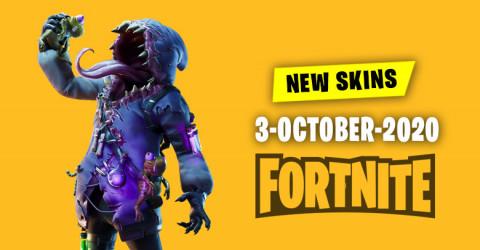 Fortnite Skins Today's Item Shop 3 October 2020