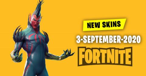 Fortnite Skins Today's Item Shop 3 September 2020