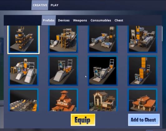 Fortnite Creative in-game prefabs | Fortnite - zilliongamer