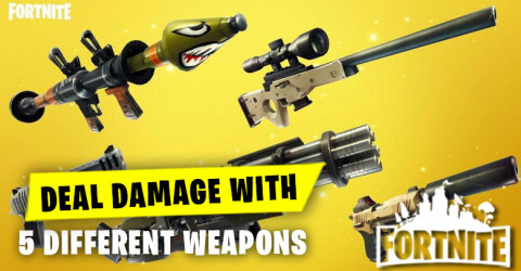 Deal damage with different weapons