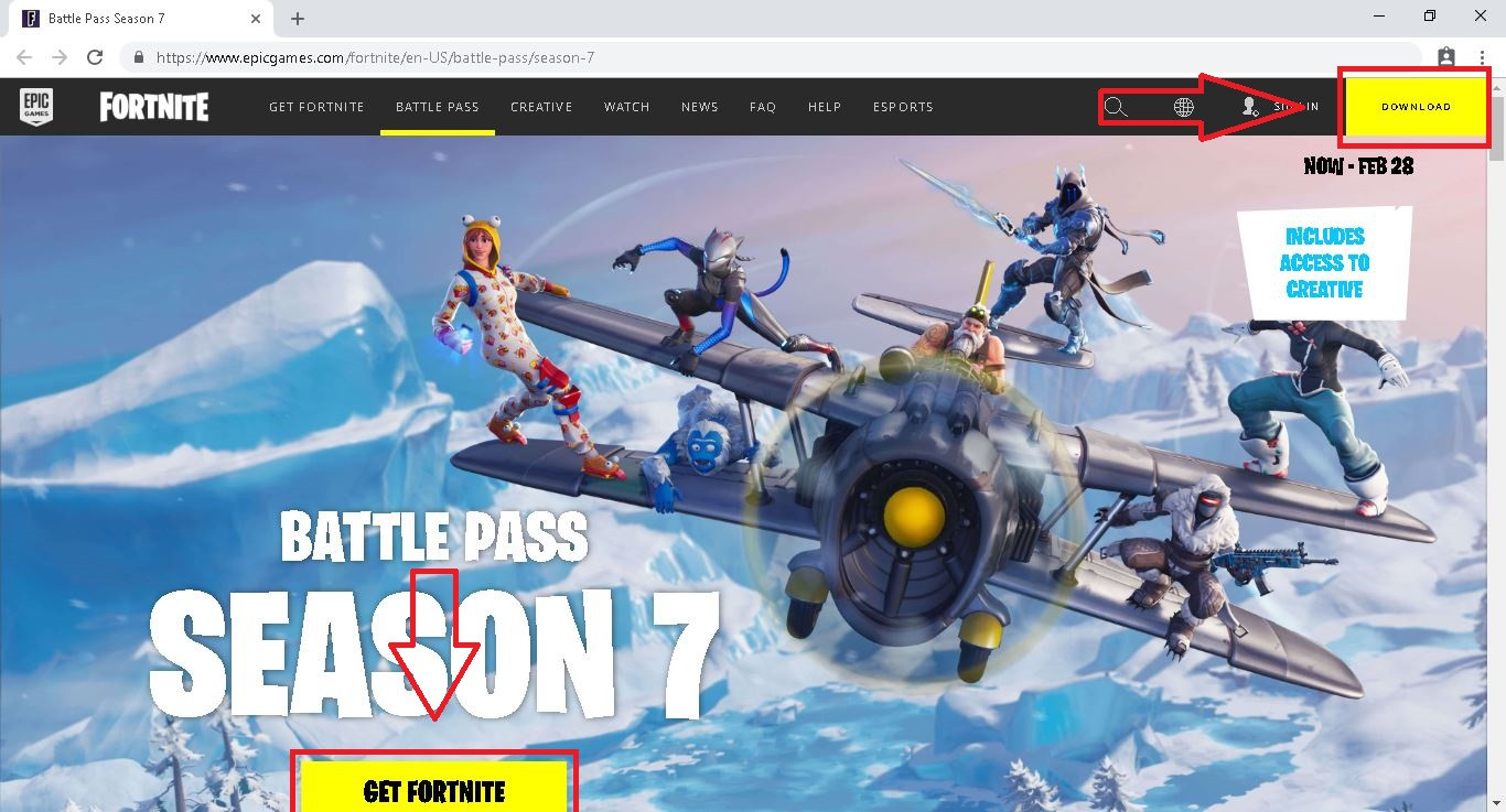fortnite download on pc