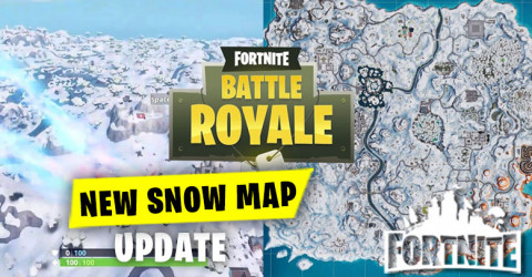 Fortnite Map Covered by Snow