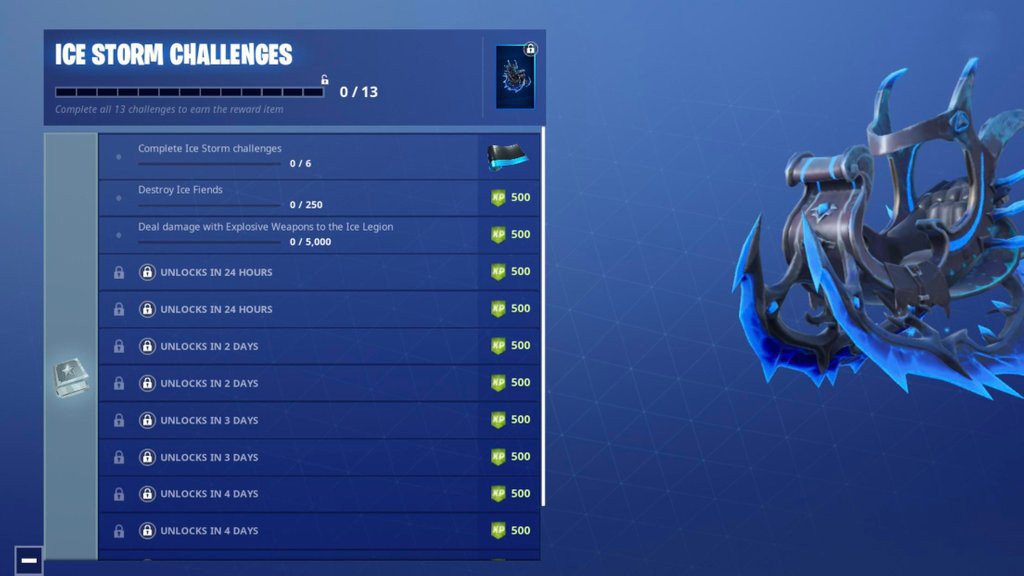 Ice Storm Challenges List | Fortnite - zilliongamer
