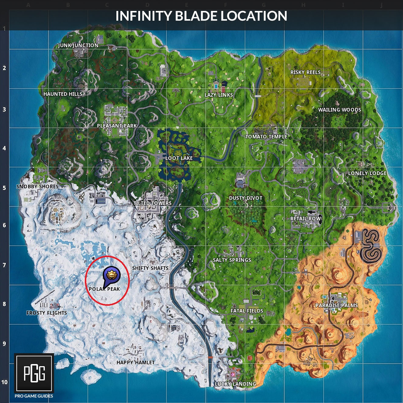 Infinity Blade Location | Fortnite - zilliongamer